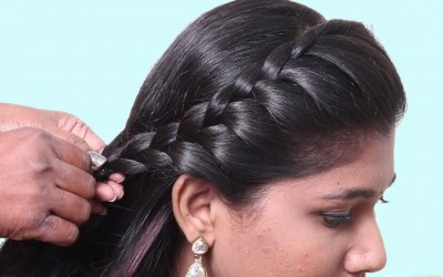 Easy-Everyday-Side-Puff-Hairstyle-How-to-do-Hairstyles-for-girls-Hairstyles-2019