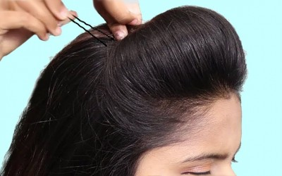 Easy-Side-Puff-hairstyles-for-schoolcollege-girls-Easy-Hairstyles-for-beginners-Hairstyles