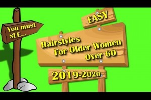 Easy-hairstyles-for-older-women-over-60-for-2019-2020-Bun-hair-tutorial-with-flowers