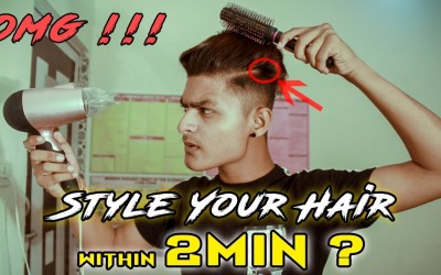 How-To-Style-Your-Hair-Within-2-minutes-Hair-Style-For-Men-Ronnyy-Prajapati