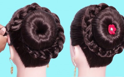 Latest-bun-hairstyle-for-wedding-guest-Easy-hairstyle-for-beginners-step-by-step-hair-style-girl