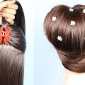 Latest-party-bun-Hairstyle-using-Clutcher-short-hairstyles-for-women-hair-transformation