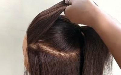 Most-Beautiful-Hairstyle-For-Party-For-Medium-Or-Long-Hair-Easy-Mini-Bun-Hairstyle-For-Party