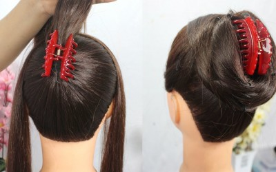 New-Juda-hairstyle-with-clutcher-hairstyle-for-long-hair-hairstyle-for-party-hair-style-girl