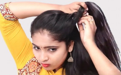 New-Self-hairstyles-2019-Party-hairstyle-with-trick-Cute-hairstyle-hair-style-girl