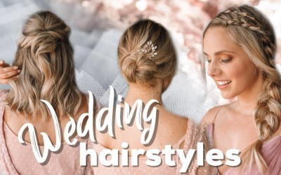Wedding-Hairstyles-Easy-Tutorial-for-Short-and-Long-Hair-Kayley-Melissa