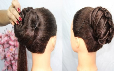 new-latest-french-bun-hairstyle-Stylish-and-Easy-Hairstyles-bun-hairstyles-updo-hairstyle