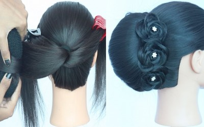 new-trending-french-roll-hairstyle-french-twist-party-hairstyle-new-hairstyles